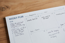 Overhead Shot Of A Weekly Plan...