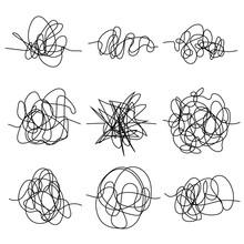 Set Of Random Chaotic Lines. H...