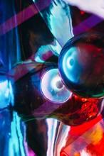 Abstract Shot Of Glass Ball On...