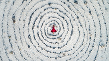 Mystic Woman In The Middle Of A Spiral