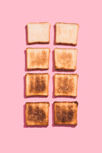 Set Of Eight Slices Toast Brea...