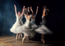 Ballerinas In Dresses Whirling...