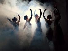 Ballerinas In Dresses Posing I...