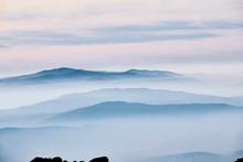Layered Mountain Landscape Wit...