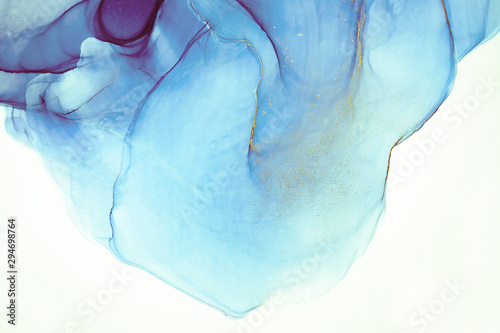 Fototapety, obrazy: Alcohol ink. Artistic bright splash. Liquid artwork. Purple marble texture. Abstract ethereal swirl. Contemporary art. Abstract art background. Multicolored bright texture. Sophisticated illustration.