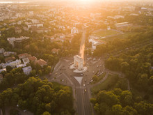 Drone View Of Bucharest City S...
