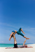 Acro Yoga On The Beach