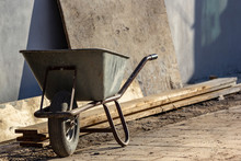 Wheel Barrow On Construction S...