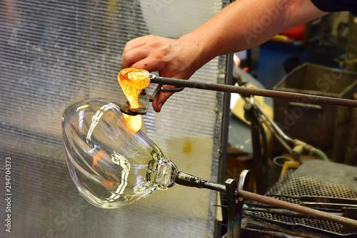 Fotografia  Glass work workshop glasswork worker