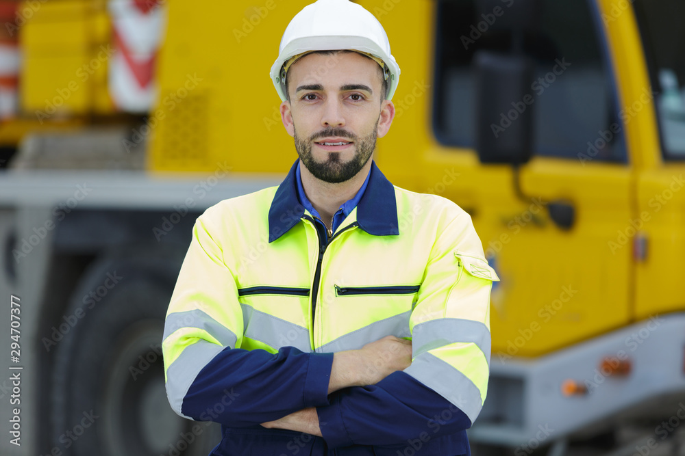 Fototapeta portrait of an engineer outdoors