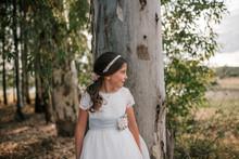 Little Girl In Communion Dress...