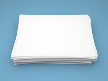 Pile Of White Paper Sheets On ...