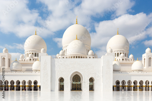 Stampa su Tela Sheikh Zayed Grand Mosque in Abu Dhabi, the capital city of United Arab Emirates