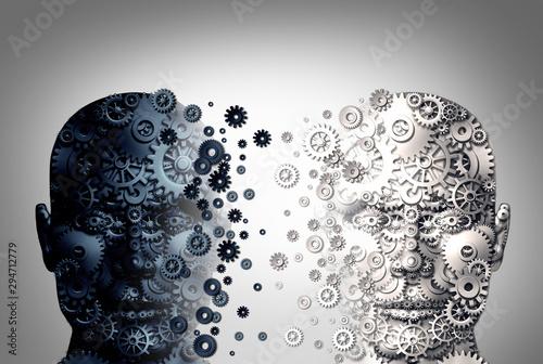 Vászonkép Bipolar Brain Disorder