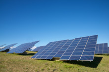 Photovoltaic Panels For Renewable Electric Production In Navarra, Spain