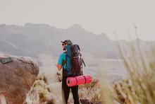 A Hiker Watching The Landscape In Guajara Mountain In El Teide