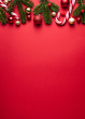 canvas print picture - Merry Christmas vertical background