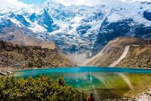 Beautiful Humantay Lagoon, Cusco.
