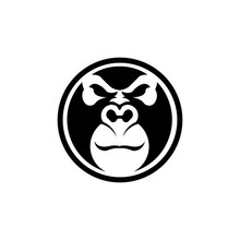 Gorilla Head Vector, Monkey He...