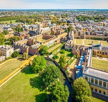 Aerial View Of Cambridge, United Kingdom