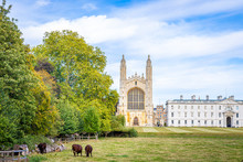 View Of Kings College In Cambridge, United Kingdom
