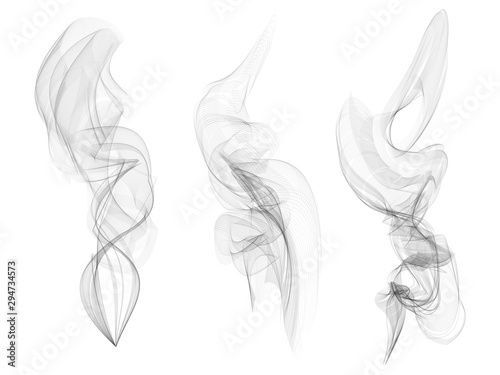 Türaufkleber Rauch Vector Collection or Set of Realistic Cigarette Smoke or Fog or Haze with Transparency Isolated can be used with any Background.