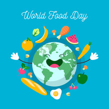 Flat Design Of World Food Day Vector.EPS10