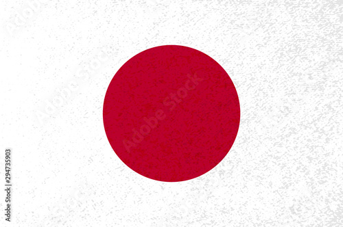 Japanese flag with red circle on white background. #294735903