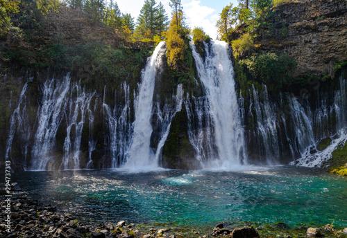 Waterfall in a paradise at California, McArthur Burney Falls, California, Nature, Amazing Waterfall
