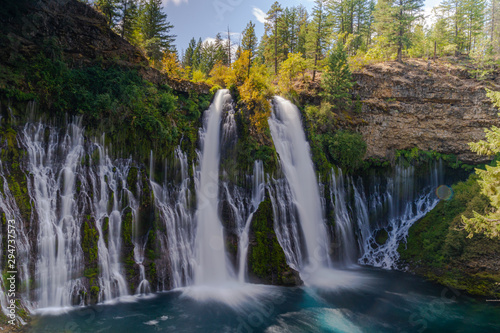 Waterfall in a paradise at California, McArthur Burney Falls, California, Nature, Amazing Waterfall