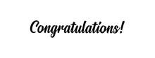 Congratulations Handwritten Te...