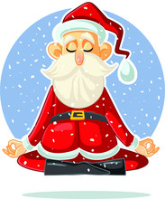 Santa Claus Meditating Vector ...
