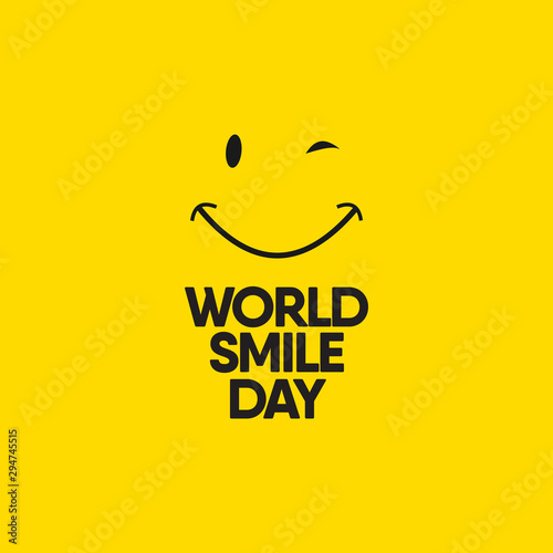 World Smile Day Celebrations Vector Template Design Illustration