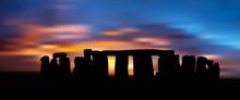 The Stonehenge Under The Sunset