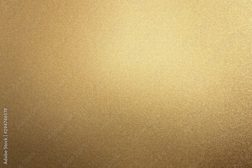 Fototapety, obrazy: Glowing rough bronze metal board wall, abstract texture background