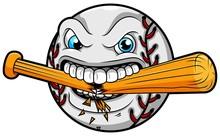 Angry Baseball Breaks A Baseball Bat
