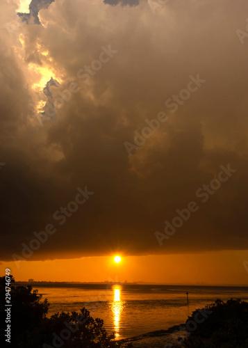 Sunset at sea beautiful seascape