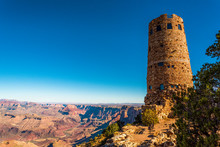 Desert View Watchtower, Designed In Native American Style, Grand Canyon, Arizona/USA
