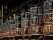 A Row Of Prayer Wheels