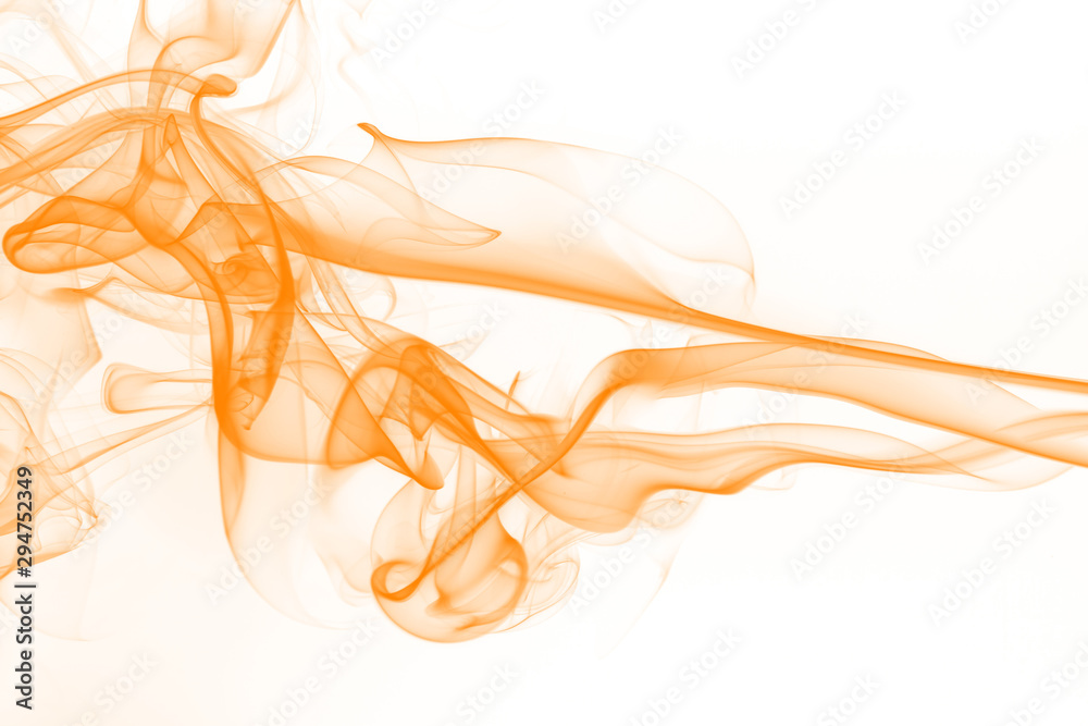 Fototapety, obrazy: Yellow smoke isolated on white background, ink water color