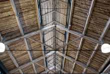 Detail Of An Old Vaulted Wooden Ceiling