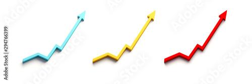 Pinturas sobre lienzo  Finance Graph Arrow Set of Improvement