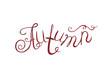 word, red, autumn, curls, beautiful, inscription