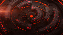 Rotating Red Circle Elements 3...
