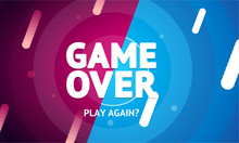 Game Over Or Play Again Concep...