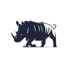 Ilustration Black Rhino - Logo...
