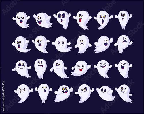 Valokuva Halloween cute symbols