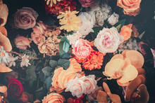 Flower Background In Vintage S...