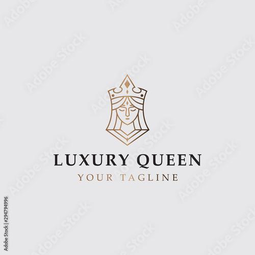 icon logo of luxury queen Fototapeta