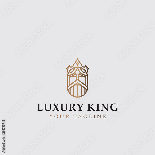Fotomural icon logo of luxury king